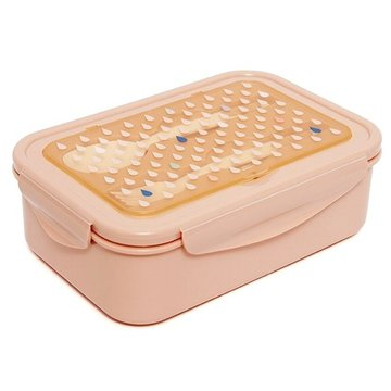 Petit Monkey -  Śniadaniówka Lunchbox BENTO ze sztućcami Krople brzoskwini