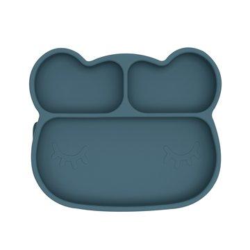 Silikonowy talerzyk z przyssawką Miś We Might Be Tiny - Blue Dusk