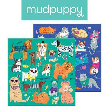 Mudpuppy Puzzle magnetyczne Koty i psy 4+