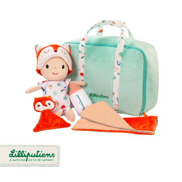 LILLIPUTIENS Lalka z zestawem podróżniczym z walizeczką i akcesoriami Alex 12 m+ Lilliputiens