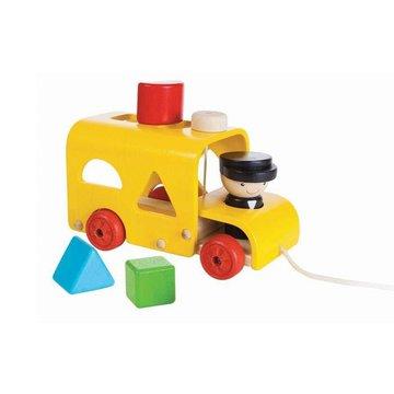 Autobus z klockami do wrzucania, Plan Toys PLTO-5121