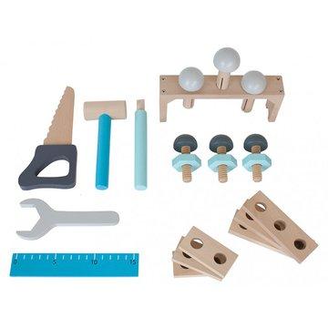 JaBaDaBaDo - Drewniana szara skrzynia z narzędziami