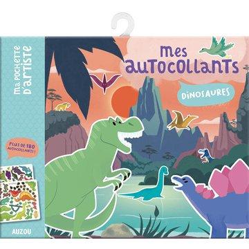 Auzou Naklejki z planszami Dinozaury 3+ 74943