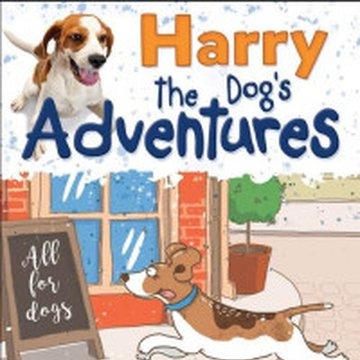 Aksjomat - Harry the Dog's Adventures. Czytanki i ćwiczenia w języku angielskim dla dzieci. Poziom A1