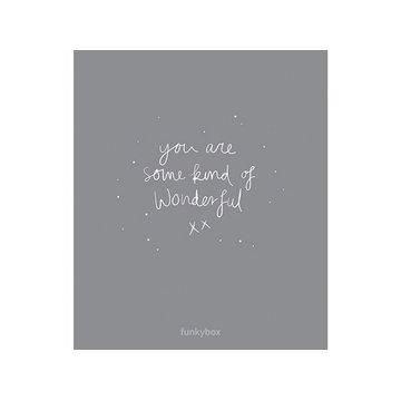 Funkybox - Plakat Dziecięcy 30x42, Dark Grey Wonderful