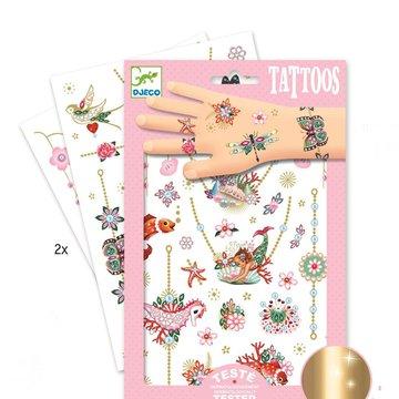 Djeco - Tatuae metaliczne KLEJNOTY FIONY DJ09586