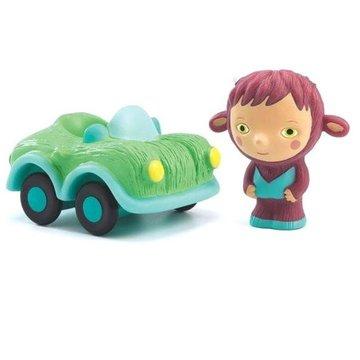 Djeco - Figurka z samochodem BOLIDACHOU DJ09150