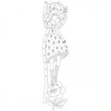 Monumi - Miarka wzrostu XXL, 160x40cm, Kwiatowa księżniczka