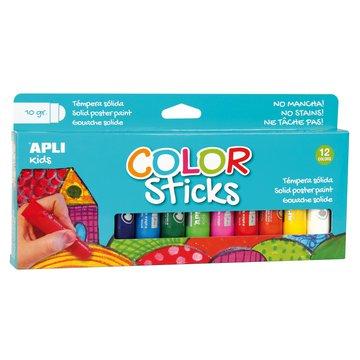 Farby w kredce Apli Kids - 12 kolorów