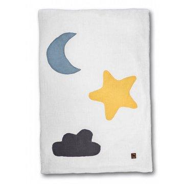 Hi Little One - kocyk muslinowy/ kołderka Day & Night White