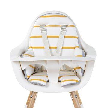 CHILDHOME - Dwustronny ochraniacz do krzesełka Evolu 2 Jersey Ochre Stripes