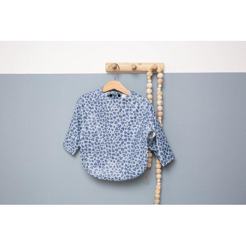 Bebe-Jou - bébé-jou Śliniak z długim rękawem Leopard Blue 3058122