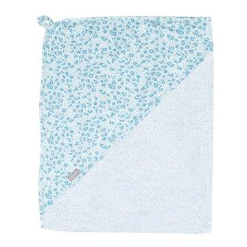 Bebe-Jou - bébé-jou Ręcznik z kapturkiem Leopard Blue 3010122