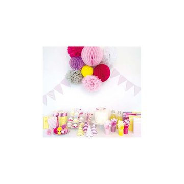 JaBaDaBaDo - Różowe serwetki w paski