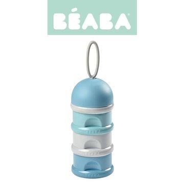 BEABA Pojemniki na mleko w proszku airy green + windy blue + light mist (opakowanie zbiorcze 6 szt.) Beaba