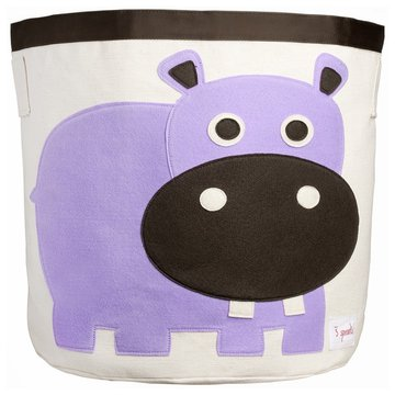 3 Sprouts Kosz Na Zabawki Hipopotam