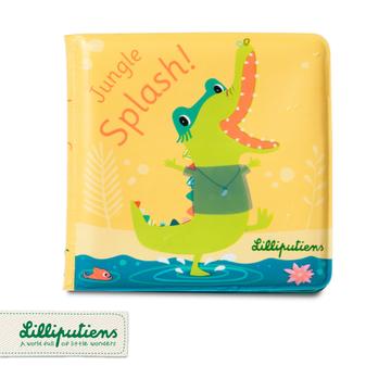 LILLIPUTIENS Magiczna książeczka do kąpieli Krokodyl Anatol 12 m+ Lilliputiens