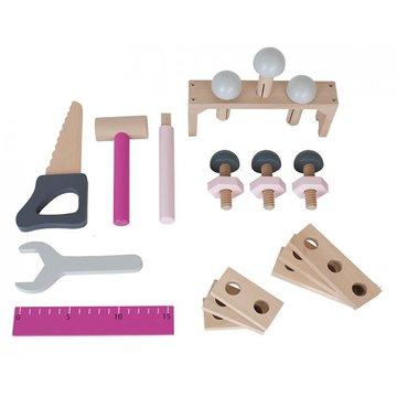 JaBaDaBaDo - Drewniana skrzynia z narzędziami różowa