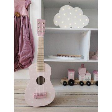 Drewniana gitara pastelowy różowy Jabadabado JaBaDaBaDo