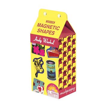 Mudpuppy – Zestaw drewnianych magnesów Andy Warhol 35 elementów
