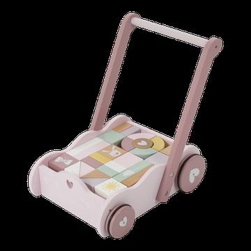 Little Dutch Wózek z klockami Róż LD4414