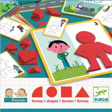 Djeco - Gra eduludo ukadanie z figur geometr. DJ08300