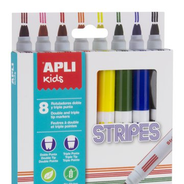 Flamastry do robienia kresek Apli Kids - 8 kolorów