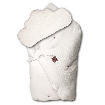 Hi Little One - zestaw kołderka z podusią/ rożek 2 w 1 WHITE