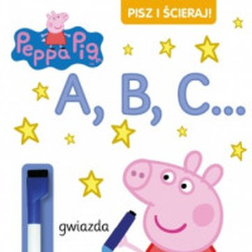 Media Service Zawada - Świnka Peppa. Pisz i ścieraj! A, B, C...