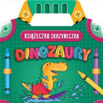 Aksjomat - Kolorowanka z naklejkami. Książeczka-skrzyneczka. Dinozaury
