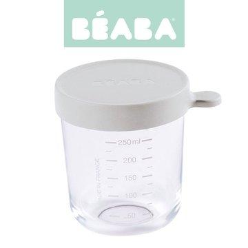 BEABA Pojemnik słoiczek szklany z hermetycznym zamknięciem 250 ml Light Mist Beaba