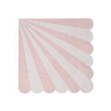 Meri Meri - Małe serwetki Paski różowe